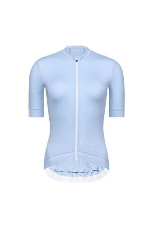 light blue cycling jersey