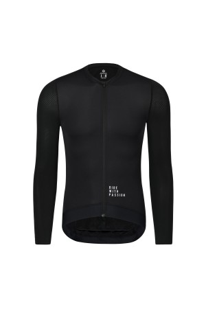 black long sleeve cycling jersey