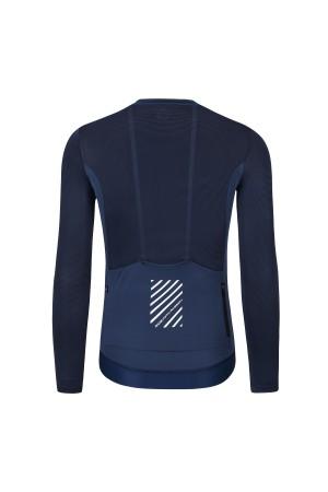 blue long sleeve cycling jersey