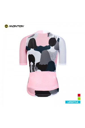 pink cycling jersey women's