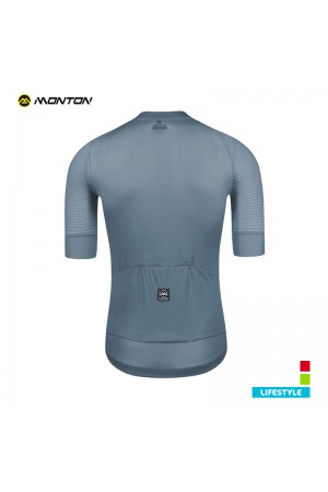 gray cycling jersey
