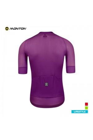 purple cycling jersey
