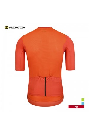 orange cycling top