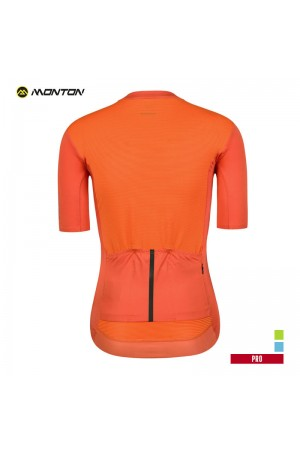 orange cycling jersey womens