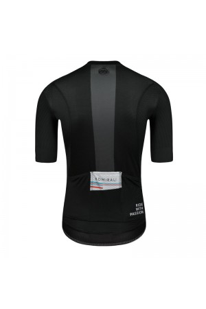 all black cycling jersey