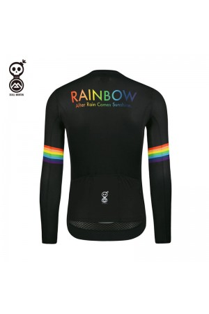 mens black long sleeve cycling jersey