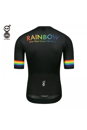 black short sleeve cycling jersey