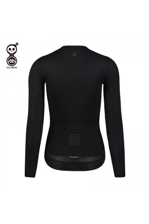 black women's cycling jersey long sleeved