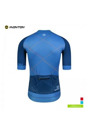 blue cycling top