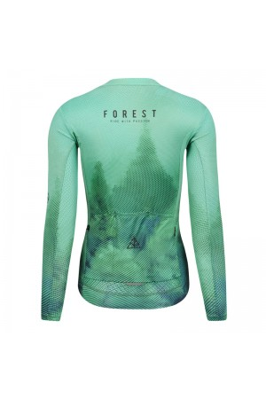 womens long sleeve cycling jersey