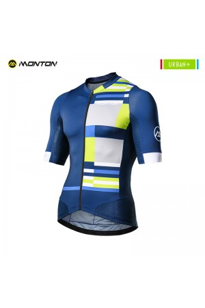 2018 Cycling Top Men Urban Plus Mondrian Blue White
