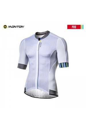 Plain white cycling jersey