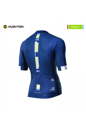 Blue cycling top