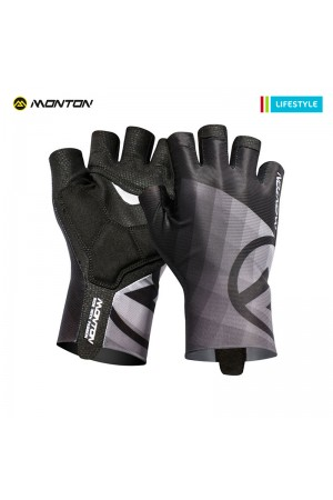2018 Mens Half Finger TT Bike Gloves LifeStyle Miraggio Gray