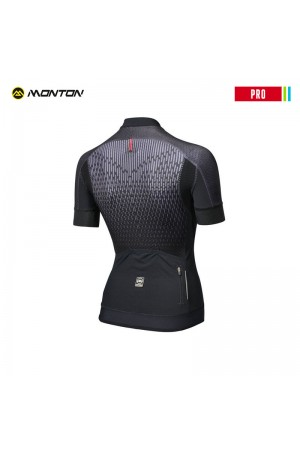 Plain black cycling jersey