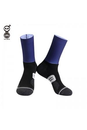 2020 Skull Monton Cycling Socks Friday Blue