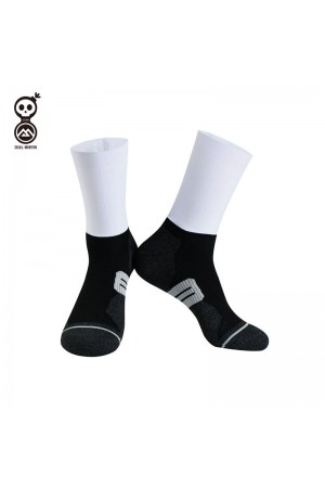 Skull Monton Cycling Socks Holiday White