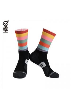 2020 Skull Monton Cycling Socks Holiday Color