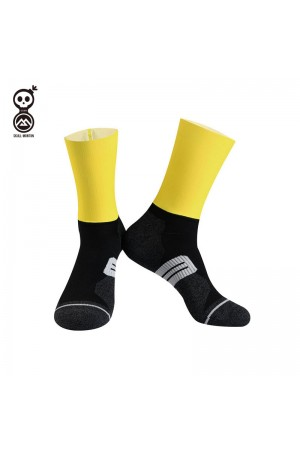 2020 Skull Monton Cycling Socks Monday Yellow