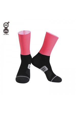 2020 Skull Monton Cycling Socks Tuesday Pink