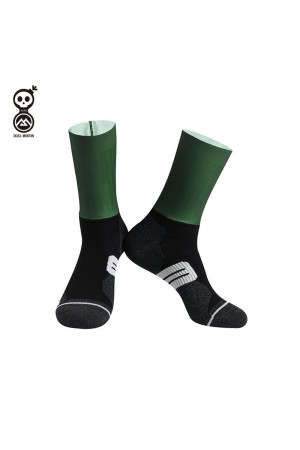 2020 Skull Monton Cycling Socks Wednesday Green