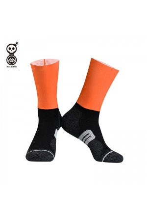 2020 Skull Monton Cycling Socks Thursday Orange