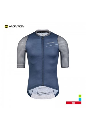 2019 PRO Mens Short Sleeve Cycling Jersey Light Year Blue Gray