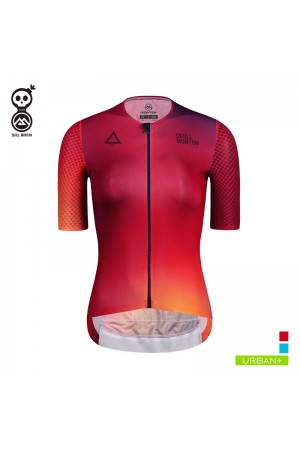 Cobrand Womens Short Sleeve Cycling Jersey Fire