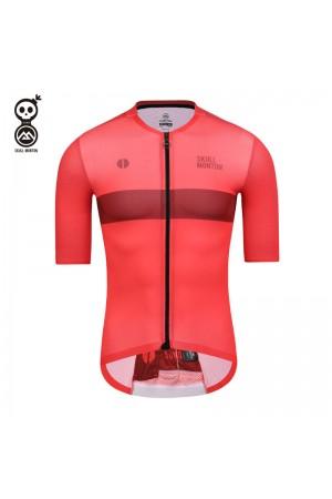 SKULL MONTON Mens Cycling Jersey SUNDAY Red