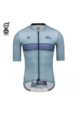 SKULL MONTON Mens Cycling Jersey FRIDAY LightSteelBlue
