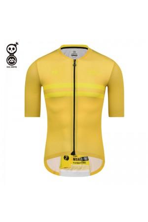 SKULL MONTON Mens Cycling Jersey MONDAY Yellow