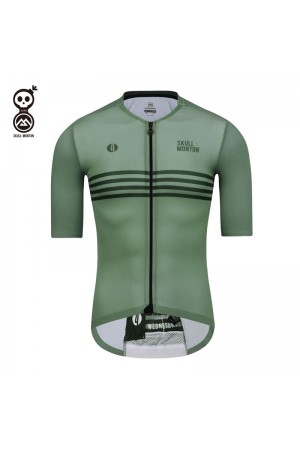 SKULL MONTON Mens Cycling Jersey WEDNESDAY GrayGreen