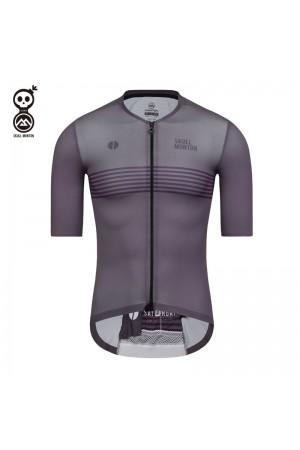 SKULL MONTON Mens Cycling Jersey SATURDAY Purple