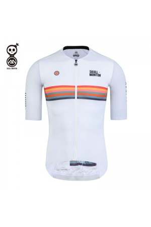 2020 SKULL MONTON Mens Cycling Jersey HOLIDAY White