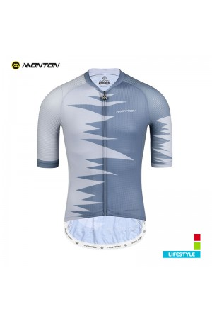 2019 Lifestyle Mens Short Sleeve Cycling Top Roar Gray
