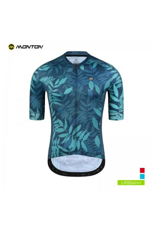 2019 Urban Mens Short Sleeve Cycling Jersey Frond Green