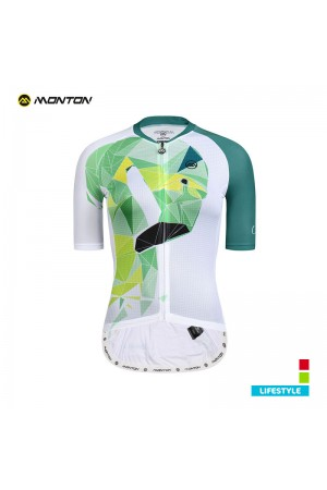 2019 Lifestyle Womens Short Sleeve Cycling Jersey Flamingo Green