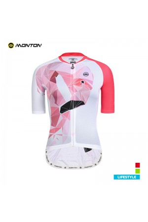 2019 Lifestyle Womens Short Sleeve Cycling Jersey Flamingo Pink