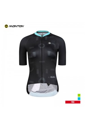2019 PRO Womens Short Sleeve Cycling Jersey Element Black