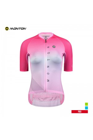 2019 PRO Womens Short Sleeve Cycling Jersey Neon Pink