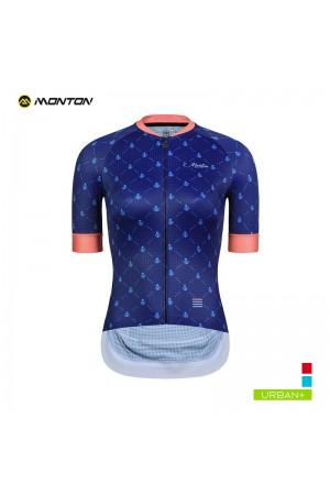 2019 Urban Womens Short Sleeve Cycling Jersey Ladybug Blue