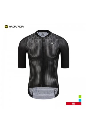 2019 PRO Mens Short Sleeve Cycling Jersey Cypress Black