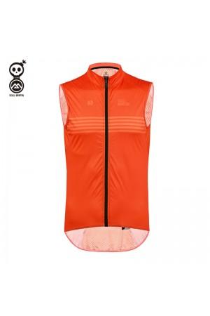 2020 SKULL MONTON Cycling Gilet Thursday Orange
