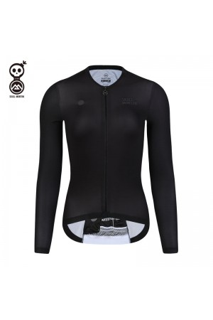 Skull Monton Womens Long Sleeve Cycling Jersey Weekend Black
