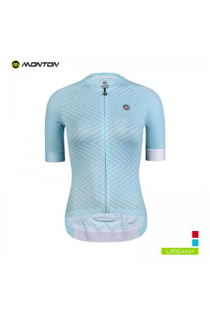 2019 Urban Womens Short Sleeve Cycling Jersey Diversion Line Baby Blue