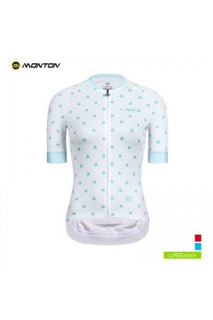 2019 Urban Womens Short Sleeve Cycling Jersey Ladybug White