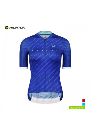 2019 Urban Womens Short Sleeve Cycling Jersey Winain Deep Blue