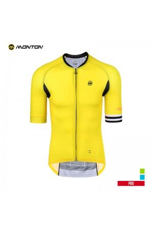 2019 PRO Mens Short Sleeve Cycling Jersey London Yellow