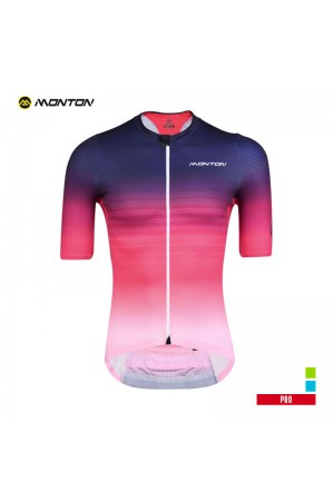 2019 PRO Mens Short Sleeve Cycling Jersey Cool Saiun Red