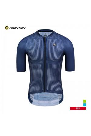 2019 PRO Mens Short Sleeve Cycling Jersey Cypress Deep Blue